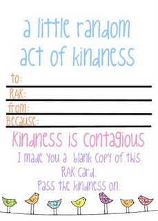 random acts of kindness form