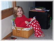 basket reading nook for kids