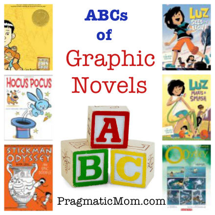 ABCs of graphic novels, best graphic novels for kids, kids favorite graphic novels, graphic novels for preschool, wordless graphic novel