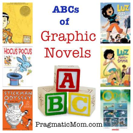 ABCs of graphic novels, best graphic novels for kids, kids favorite graphic novels, graphic novels for preschool, wordless graphic novel
