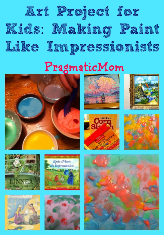 make your own paint Impressionist art project for kids