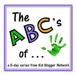 KBN ABCs button, kid blogger network, ABCs series