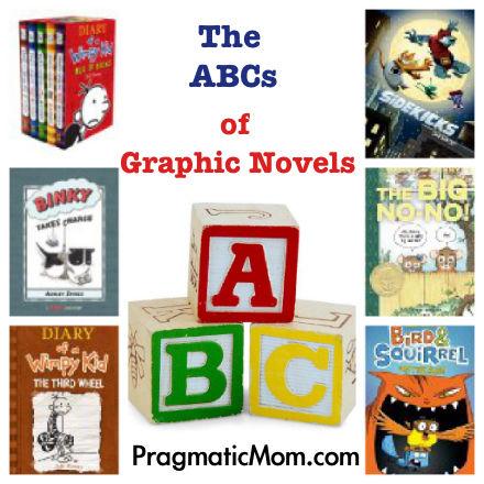 graphic novels, ABCs of graphic novels, graphic novels for kids, kids graphic novels, best graphic novels