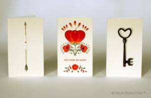 Felix Doolittle, mini cards, Valentine's cards, mini heart tin note cards, Newton