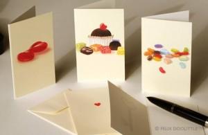 Felix Doolittle, mini cards, Valentine's cards, mini heart tin note cards, Newton