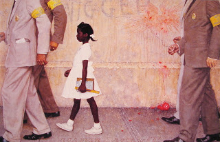 Ruby Bridges, Norman Rockwell, the problem we are all living with, Civil Rights Movement through art,