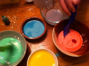 art project for kids, make sidewalk chalk paint, paint like impressionist art project for kids