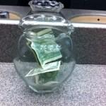 tip jar, Boston Pops Holiday concert