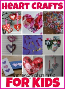 Imagination Tree hearts crafts