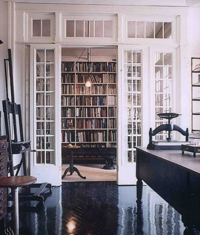 A perfect home library pragmaticmom - French doors in dining room interior design ...