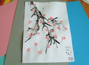Chinese flower painting,