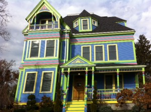 Newton MA, Victorian house in Newton,