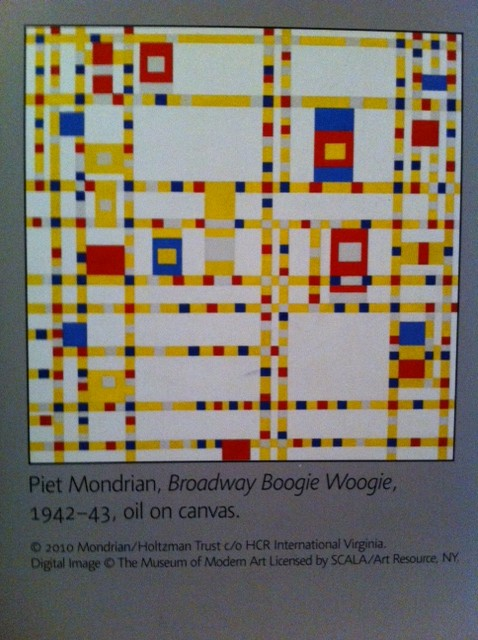 Mondrian art project for kids,