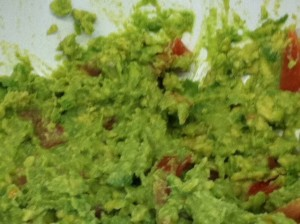 kids make guacamole