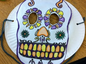 Day of the Dead mask craft for kids,