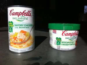 healthy heart soup, Campbell's soup healthy versions, canned soup