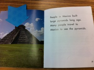Aztec pyramid, Mexico unit, marshmallow craft