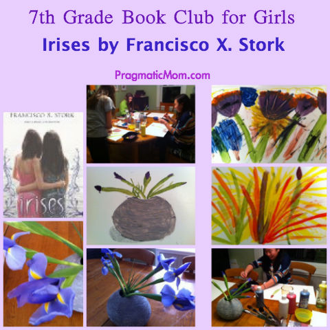 Irises book club for girl, YA book club for girls, 7th grade book club for girls, painting book club for girls, art book club for middle school