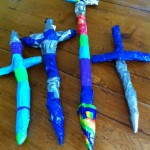 duct tape swords using paper forms