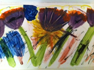 Irises painting project, Irises book club for tweens