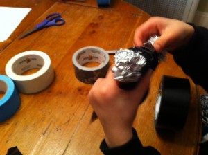 duct tape craft for boys, duct tape sword craft, book club for boys