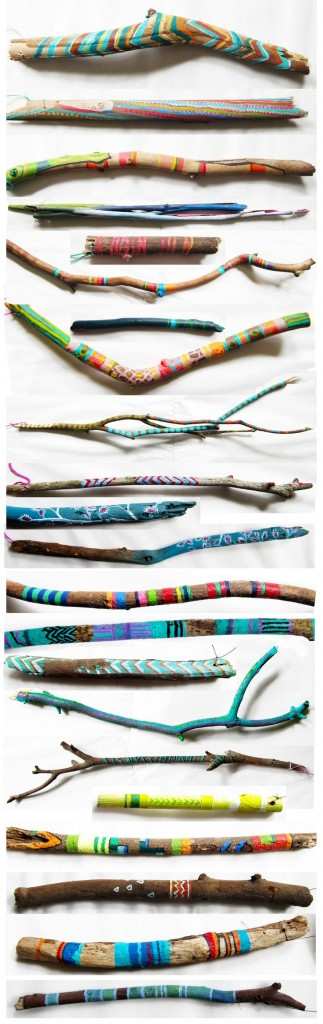 painted stick wand craft