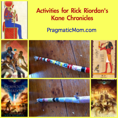 book club for Kane Chronicles, activities for Rick Riordan books
