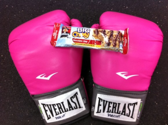 fuel for boxing, mom and boxing, Quaker chewy granola bars,