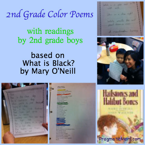 color poems, 2nd grade poetry, 2nd grade color poems, mary o'neill