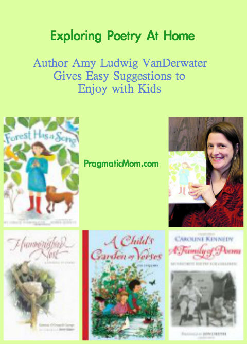 teaching poetry at home, teaching poetry to kids, reading poems at home, Amy Ludwig VanDerwater, Forest has a song