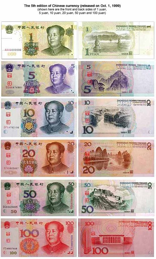 Banknotes Of Foreign Banks In China Chinese Issued By Currency
