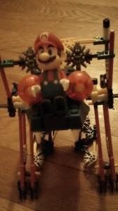 Mario and robot K'NEX toys