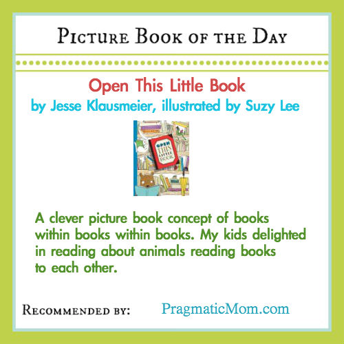 picture book of the day, open this little book, clever picture book concepts, books within books