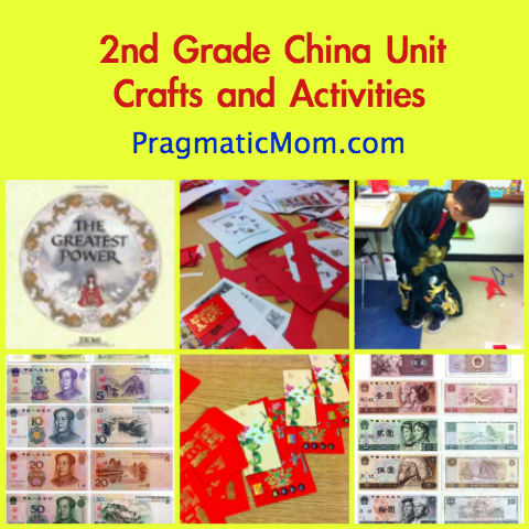 2nd grade china unit, 2nd grade china, china unit, red envelope activities
