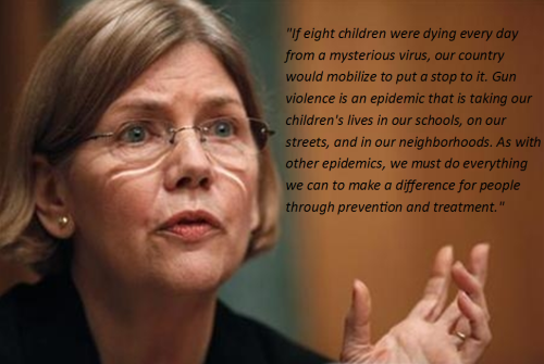 gun control, Elizabeth warren, cartoonist for gun control, children's illustrators for gun control, moms for gun control
