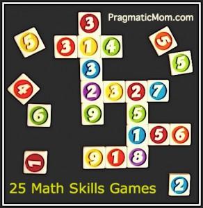 25 math games, 25 math skills games,