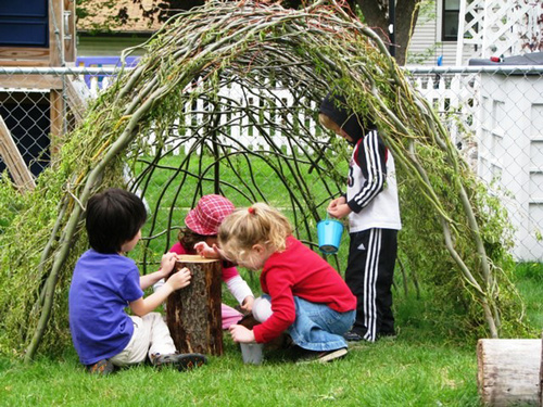 Fantasy garden play spaces for kids and adults pragmaticmom - Natural playgrounds for children ...