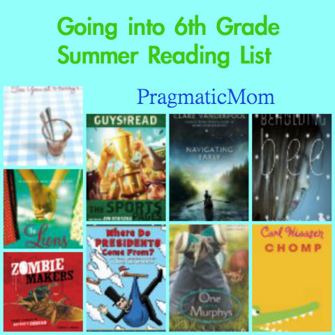 rising 5th grade reading list, going into 6th grade reading list, summer reading list 5th grade, summer reading list 6th grade