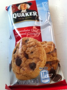 Quakers chocolate chip cookies