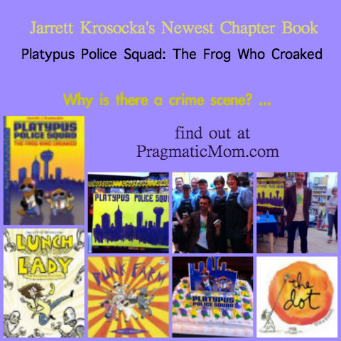 Platypus Police Squad, Jarrett Krosoczka, author event for kids, mystery chapter book,