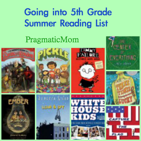 rising 4th grade summer reading list, 5th grade summer reading list, going into 5th grade summer reading list