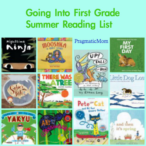 Rising Kindergarten summer reading list, going into first grade reading list, 1st grade reading list,