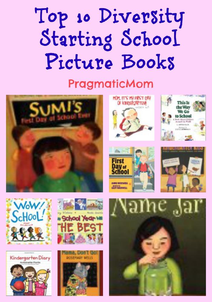 starting school diversity picture books for kids, starting kindergarten multicultural books
