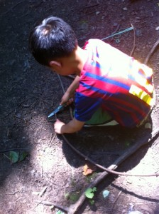 making your own bow and arrow, bow and arrow from sticks, DIY bow and arrow