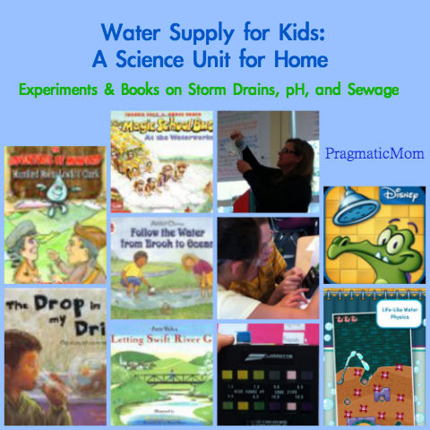 water supply science unit for kids, storm drain science unit for kids,