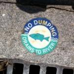 storm drain sign
