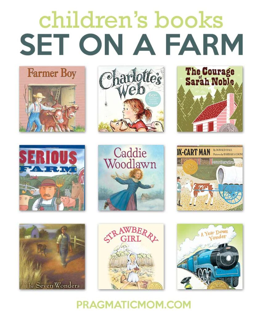 Old Fashioned Children's Books Set On a Farm