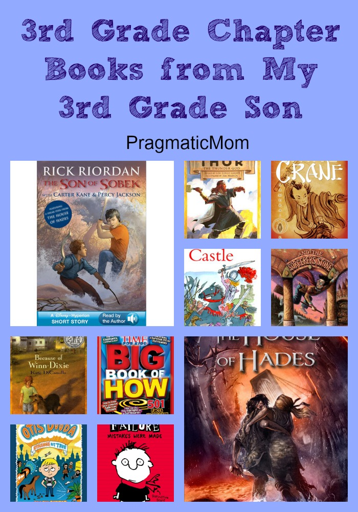 3rd grade chapter books from a 3rd grade boy