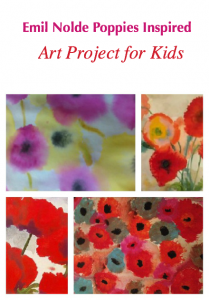 Emil Nolde Poppy art project for kids