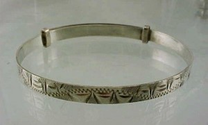 vintage silver child's bracelet tiffany first communion